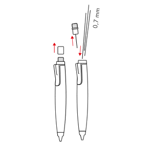 Changing refills - LAMY scribble 0,7 mm