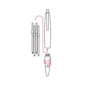 Changing Refills - Multicolour Ballpoint Pens