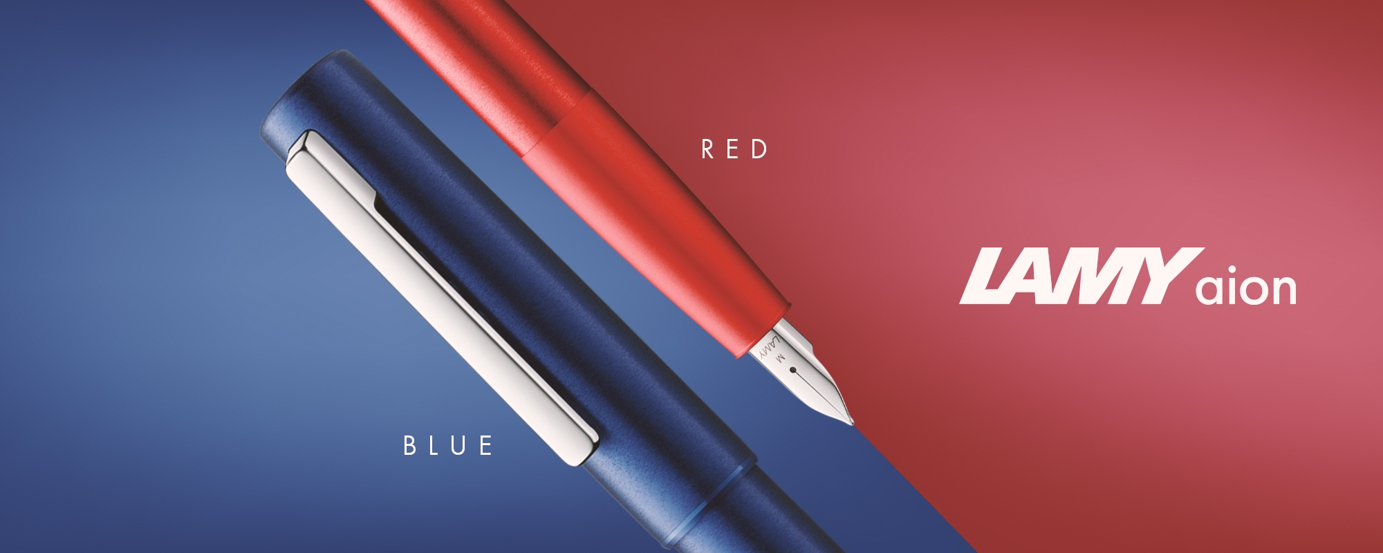 LAMY aion Blue Red